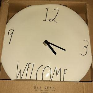"Rae Dunn ""welcome"" clock"
